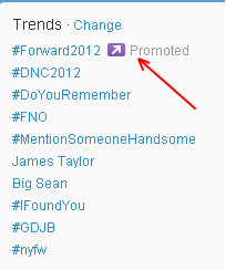 Twitter Promoted Trends