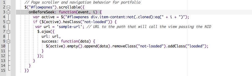 Stroller code screenshot