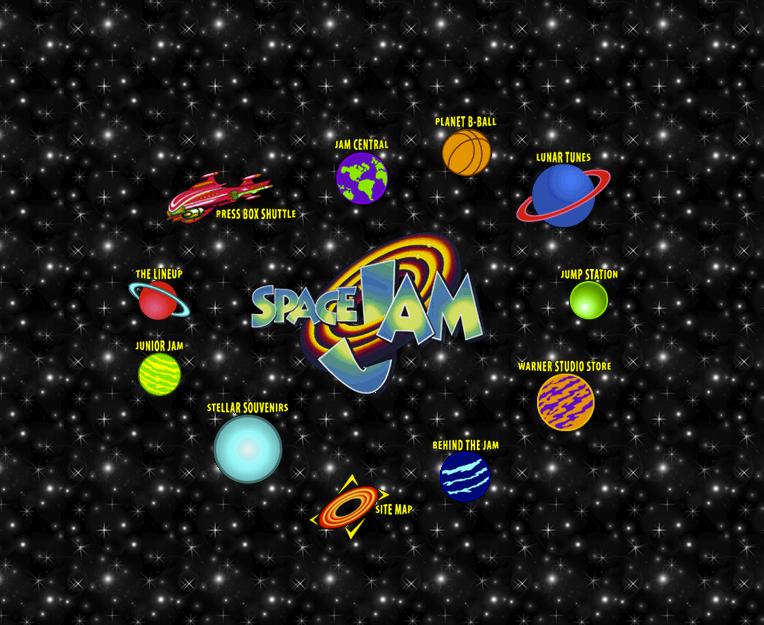 Space Jam Retro Website