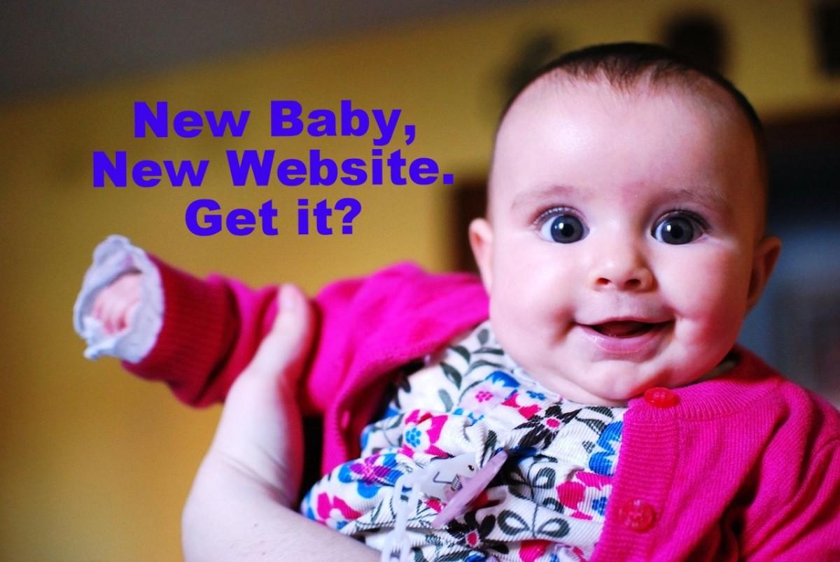 New baby, new website