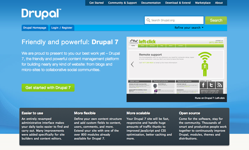 Drupal 7 Screenshot