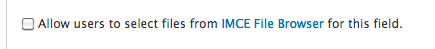 IMCE File Browser