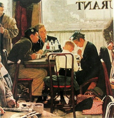 Thanksgiving Prayers by Norman Rockwell
