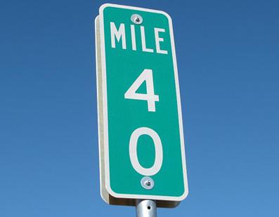 Mile sign