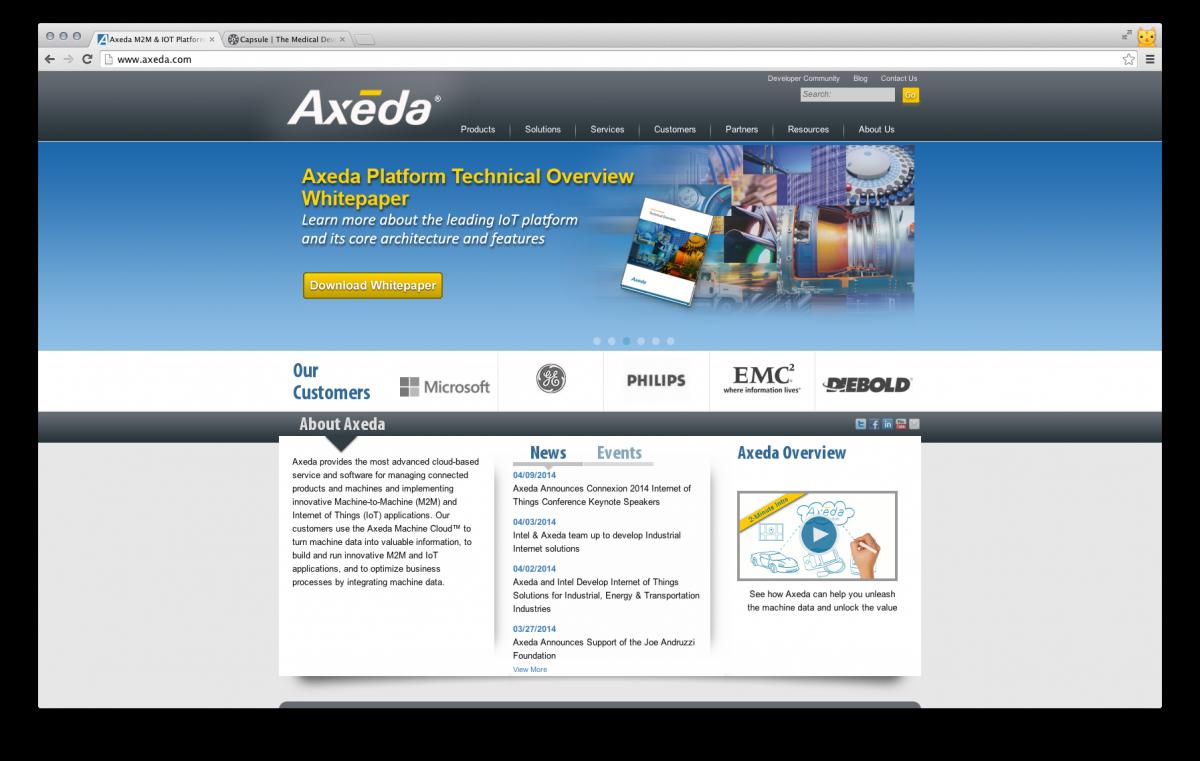Axeda Website Preview