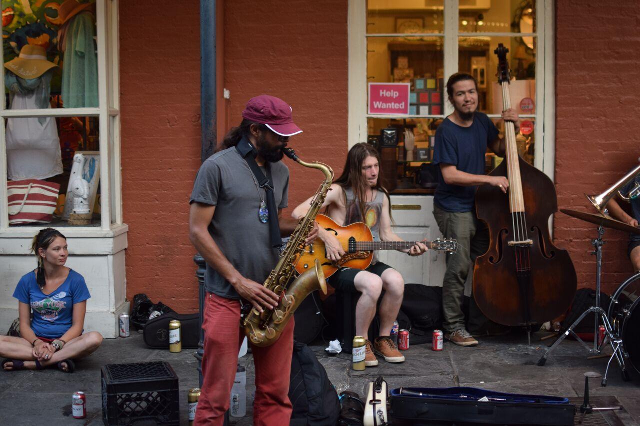 Live music on Bourbon Street