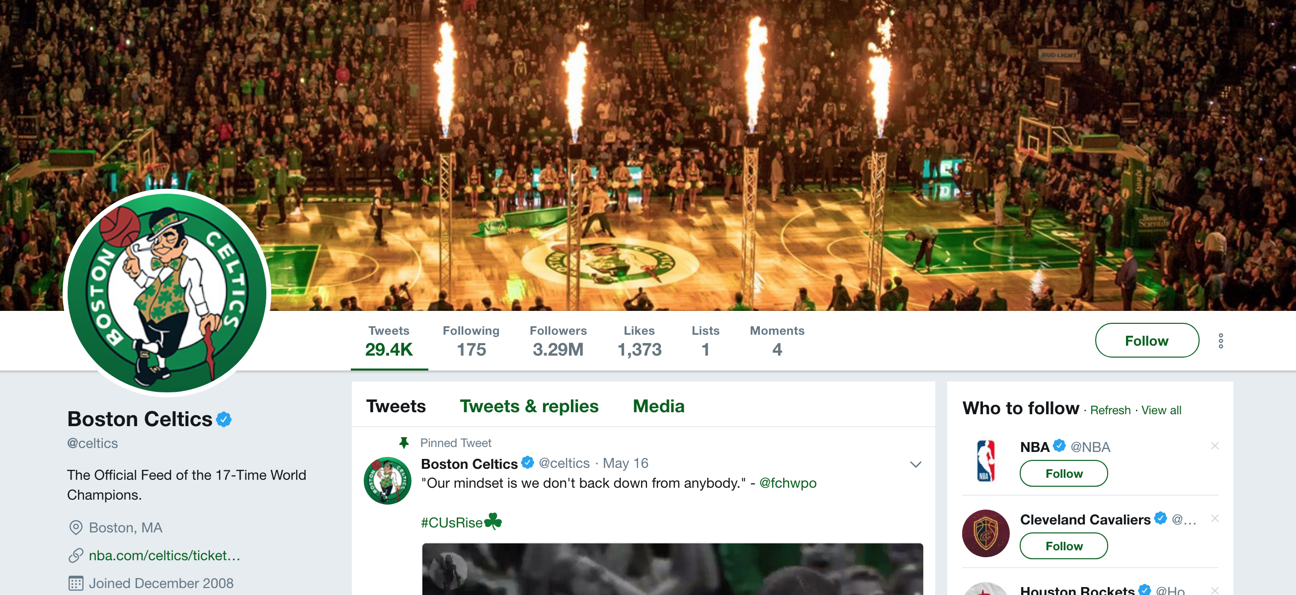 Boston Celtics Twitter