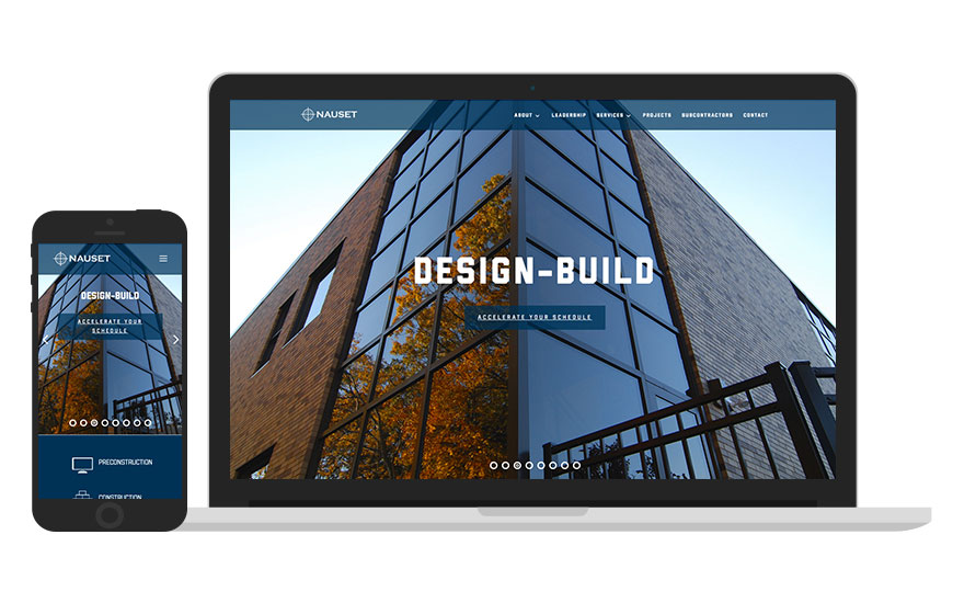 Preview of Nauset Construction's new website