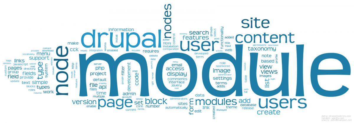 Multiple words describing the easy to use Drupal platform