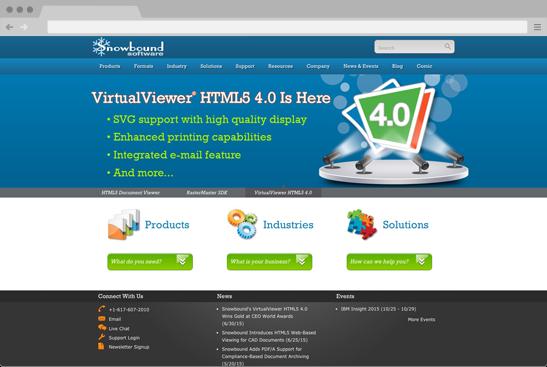 Snowbound Software's new Drupal website.